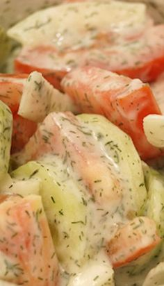 I love making this German Cucumber Salad. We had it for dinner two days in a row!
