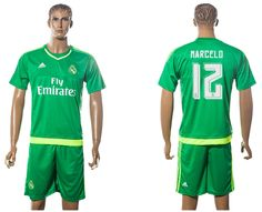 2016 Real Madrid green 12 MARCELO Goalkeeper