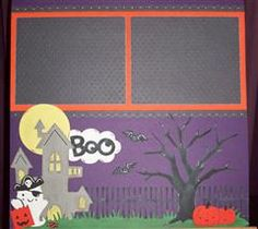 My cute little Halloween layout made with Create A Critter 2's sneak peak images. I am so excited for this new cartridge. Makes me fall in love with the original all over again.