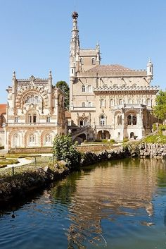 Bussaco Palace Hotel, Portugal---I've stayed in the king's chambers. The bathroom was HUGE w an interesting shower. Hotels Portugal, Visit Portugal, Portugal Travel, Spain And Portugal, Places Around The World, Oh The Places You'll Go, Places To Travel, Places To Visit, Around The Worlds