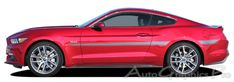 """2015-2016 Ford Mustang """"LANCE"""" Side Stripes Vinyl Decal Graphics"""