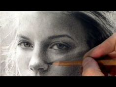 ▶ Girl with the soft summer Gaze - Time-lapse portrait art drawing video - YouTube