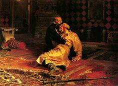 Ilya Repin.  Iván el Terrible con el cadaver de su hijo Iván, 1851.