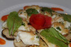 Fillet of sole with porcini mushrooms / Filetto di sogliola con funghi porcini