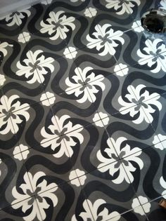 cuban floor tiles in my bathroom