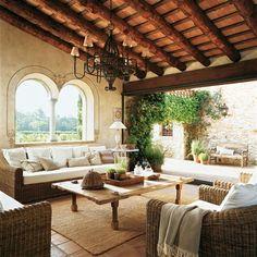 indoor - outdoor --- 17th century house in Catalonia, Spain