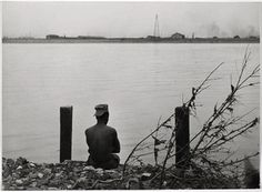 Louis, Man Sitting by River, 1947 Robert Frank Photography, Bw Photography, Conceptual Photography, Stunning Photography, Vintage Photography, Berlin Photos, Man Sitting, National Gallery Of Art, Black And White Photography