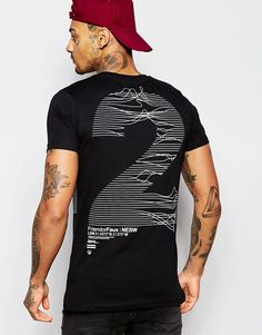e1bfcd9fb78 Friend or Faux Frequency T-Shirt Back Print at asos.com