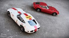 AutoArt scale models of the Toyota 2000 GT 24H Fuji 1967 #1 & Toyota 2000 GT