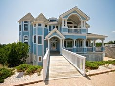 'Tuffahas Canterbury' is a 5 bedroom home located within the Currituck Club in Corolla, Nc.  Very spacious home and a great sized private pool is right in the backyard.  Managed by Village Realty.  Property I.D. is CC189