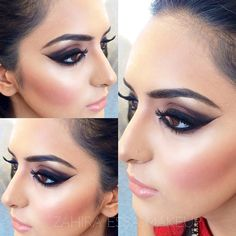 """""""Pakistani style bridal makeup created at the intensive bridal makeup training with Zahira Essa with student Saima. For bridal bookings and training please…"""""""
