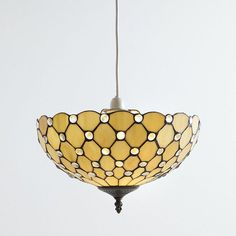 Tiffany Easy to Fit Deep Dish Uplighter Ceiling or Lamp Shade - Honey From Litecraft
