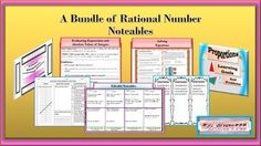 Rational numbers like integers and fraction are used in math concepts like proportions and linear equations.  To prepare the students for those concepts, this bundle has rubrics, terminology focus, and differentiated level problems for applications.  Some of the sheets may be used as foldables or flash cards to make math more interesting.