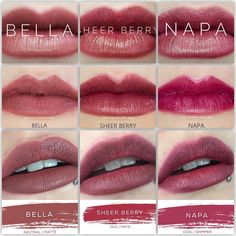 Bella vs. Sheer Berry vs. Napa Lipsense