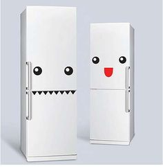 Fridge Monster Stickers are a Way to Give Your Fridge Personality #uniquefurniture #differenthomedecor