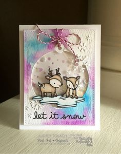 Butterfly Reflections, Ink.: Winter Wonderland Shaker with Audrey