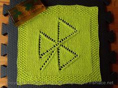 Tipsy Triangles Shamrock Washcloth