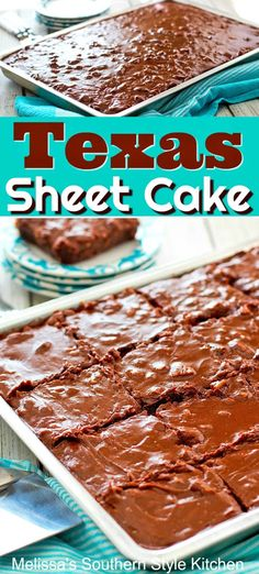This Texas Sheet Cake Recipe topped with a fudge frosting loaded with toasted pecans, is bound to become a favorite dessert for any occasion. Sheet Cake Recipes, Cookie Recipes, Dessert Recipes, Recipe Sheet, Boxed Cake Recipes, Recipe Recipe, Homemade Fudge, Homemade Cakes, Kid Desserts