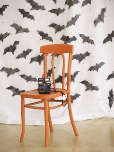 Fun Halloween photo backdrop idea