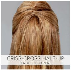🎀 Bored With Your Hair? Try This Criss-Cross Half-Up Hairstyle! Curled Hairstyles, Pretty Hairstyles, Easy Hairstyles, Everyday Hairstyles, Hair Tutorials, Hair Health, Gorgeous Hair, Beautiful, Hair Dos