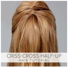 LuLu*s+How-To:+Criss-Cross+Half-Up+Hair+Tutorial
