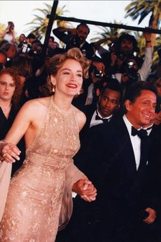 Valentino with Sharon Stone | Cannes Film Festival 1995