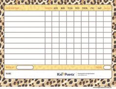 Free Printable Behavior Charts | Improves Behavior | Kid Pointz