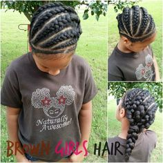 CLICK LINK FOR EASY TO FOLLOW TUTORIAL cornrows  braids  little black girl  hairstyles  Natural hair  care  Protective   Styles   youtube   Tutorial   Brown Girls Hair