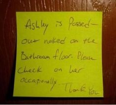 Haha this would totally have happened in the house I lived in during college