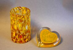 Blown and hot sculpted glass pretty for #Valentinesday