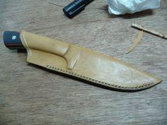 Leather sheath making
