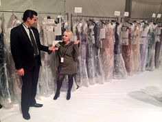 Backstage with Kati Stern talking with us @Mercedes-Benz Fashion Week @venexianaltd #fw14