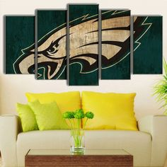 Large Framed Philadelphia Eagles Canvas Print & Extreme Eagle - Officially Licensed Philadelphia Eagles Giant ...