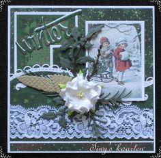 Tiny's Kaarten Victorian Christmas, Handmade Christmas, Vintage Christmas, Marianne Design, Paper Cards, Vintage Cards, 3 D, Christmas Cards, Poster