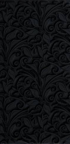 Dimentional black floral pattern