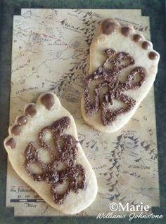 Hairy hobbit feet cookies biscuits fun for parties