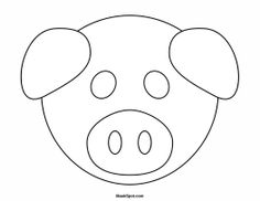 Printable cow mask to color pinteres for Pig template for preschoolers