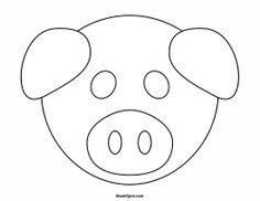 Printable Pig Mask to Color