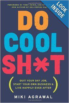 Do Cool Sh*t: Quit Your Day Job, Start Your Own Business, and Live Happily Ever After: Miki Agrawal - I loved this book. Not everything she did will work for everyone, but I love that she was willing to share her story and get you thinking about how you can also do cool sh*t. If you're looking to copy her exactly then you might have an uphill battle. It's an inspiring read that really got me thinking about what I want for my business and my future. I highly recommend it.