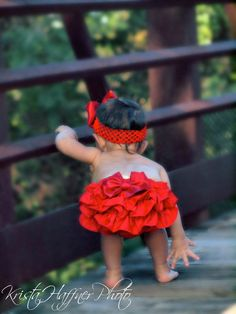 Red ruffle bum bloomers and FREE headband by pinkgiraffebowtique, $24.95