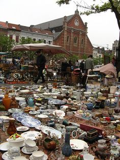 Brussels Flea Market at Jeu de Balle. Our hotel was opposite the market square, so cool to wake up to every morning