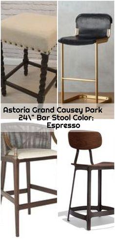 """Astoria Grand Causey Park 24"""" Bar Stool Color: Espresso ,  ,  #Astoria #bar #Causey #color #Espresso #Grand #Park #Stool 24 Bar Stools, Counter Bar Stools, Park 24, Espresso, Furniture, Color, Home Decor, Espresso Coffee, Decoration Home"""