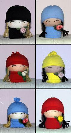 Girl sock dolls by ~httpecho on deviantART