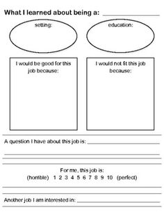 Career research questions worksheet