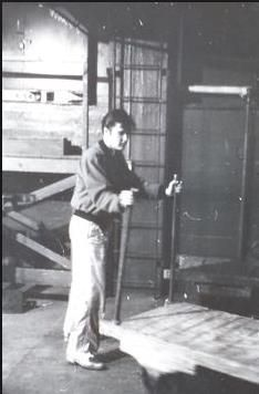 April 2, 1957 Fooling around between shows backstage at the Maple Leaf Gardens, graceland elvis presley