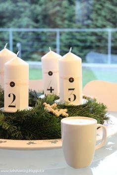 Adventskranz mit DIY Holzkugelsternen by kebo homing