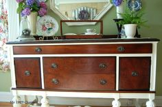 Two tone buffet makeover.