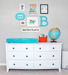 Get inspired with these unique design ideas to make all aspects of your baby boy's #nursery stand out.