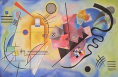 Kandinsky - just saw his work at the Milwaukee Art Museum. Music was very important to Kandinsky, and his abstract paintings are a reflection of that. Blue Framed Art, Blue Art, Framed Art Prints, Blue Painting, Artist Painting, Abstract Paintings, Famous Abstract Artists, Kandinsky Art, Islamic Art