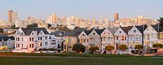 Painted Ladies of San Francisco.  East side of Alamo Square.
